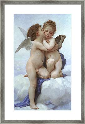 Amor And Psyche - The First Kiss Framed Print