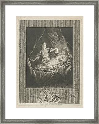 Amor And Psyche, Theodorus De Roode Framed Print