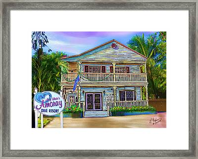 Amoray Dive Resort Framed Print by Gerry Robins