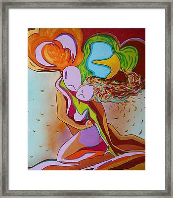 Framed Print featuring the painting Amore E Psiche by Gioia Albano
