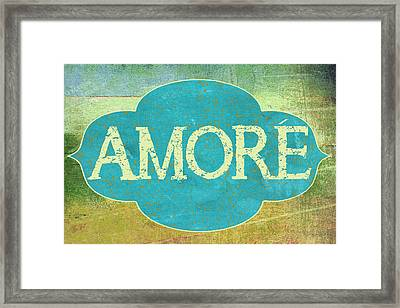 Amore Framed Print by Marilu Windvand
