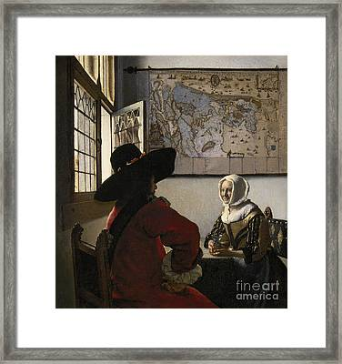 Amorous Couple Framed Print by Vermeer