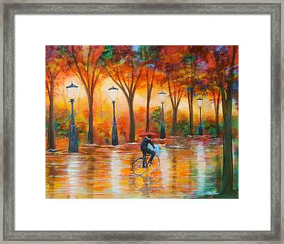 Framed Print featuring the painting Amorous Rain by Chris Fraser