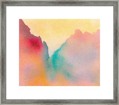 Framed Print featuring the painting Amorphous 50 by The Art of Marsha Charlebois