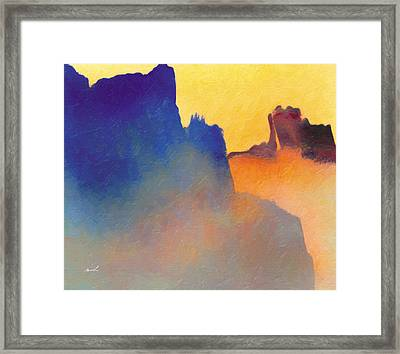 Amorphous 60 Framed Print by The Art of Marsha Charlebois