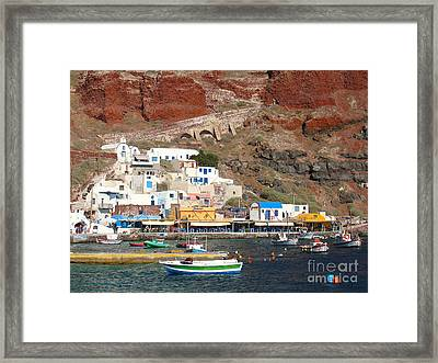 Amoudi Bay Framed Print
