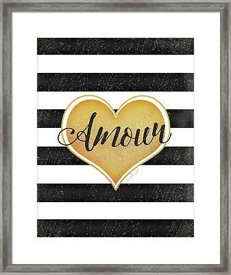 Amour Framed Print by Jennifer Pugh