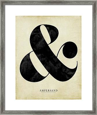 Ampersand Cream Framed Print