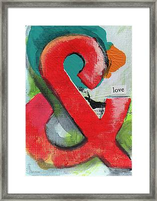 Ampersand Love Framed Print by Linda Woods