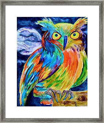 Ampersand Owl Framed Print by Beverley Harper Tinsley