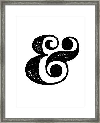 Ampersand Poster White Framed Print by Naxart Studio