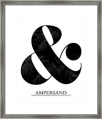 Ampersand White Framed Print