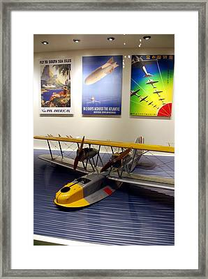 Amphibious Plane And Era Posters Framed Print