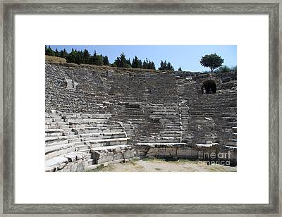 Amphitheater Ephesus Ruins Framed Print by Christiane Schulze Art And Photography
