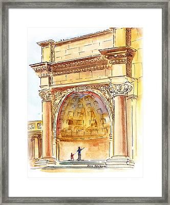 Amphitheater In Golden Gate Park San Francisco  Framed Print by Irina Sztukowski