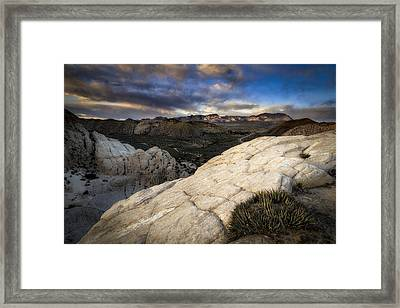 Amphitheater Of Snow Canyon Framed Print by Nick Oman
