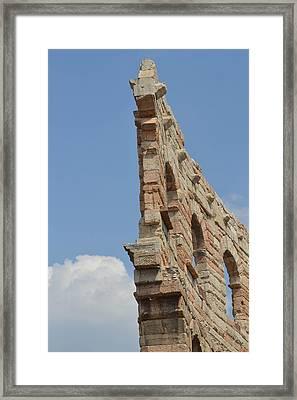 Amphitheater Wall Verona Framed Print by Bill Mock