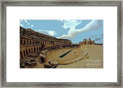 Amphitheatre Of El Jem Tunisia Framed Print by Amalia Suruceanu