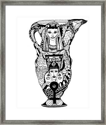 Amphora Of Cleopatra And Nefertiti Framed Print by Kenal Louis