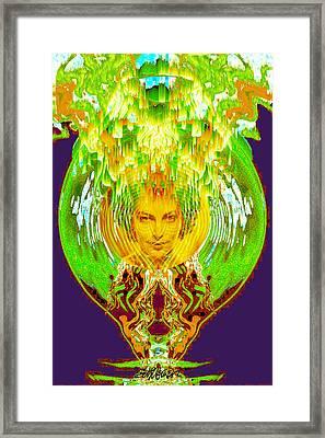 Amphora Of Fire Framed Print by Seth Weaver