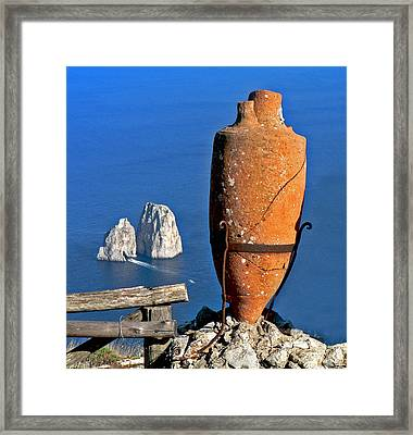 Amphora On The Island Of Capri 2 Framed Print