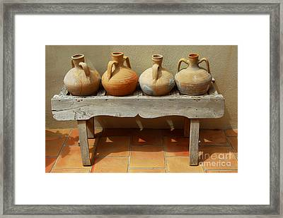 Amphoras  Framed Print by Elena Elisseeva