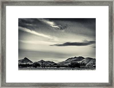 Amps Field Framed Print by Arne Hansen