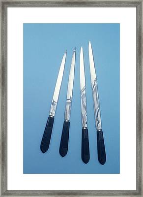 Amputation Knives Framed Print