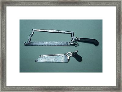 Amputation Saws Framed Print
