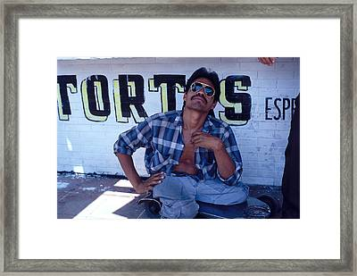 Amputee Begger Framed Print by Mark Goebel