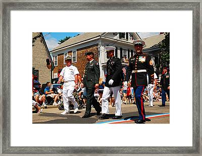 Amred Forces Salute Framed Print by James Kirkikis