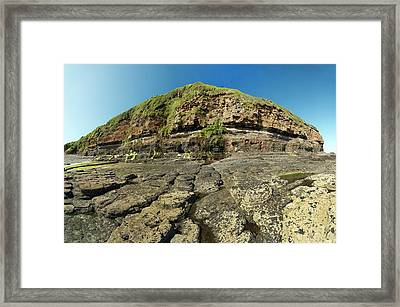Amroth Coal Seam Framed Print by Sinclair Stammers