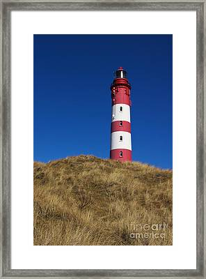 Amrum Lighthouse Framed Print by Angela Doelling AD DESIGN Photo and PhotoArt