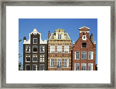 Amsterdam - Gables Of Old Houses At The Herengracht Framed Print by Olaf Schulz