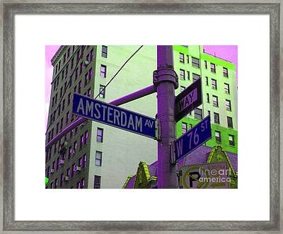 Amsterdam Avenue Framed Print by Susan Carella