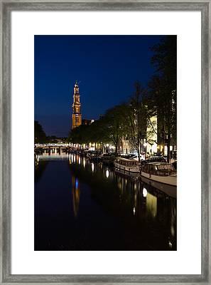 Amsterdam Blue Hour Framed Print by Georgia Mizuleva