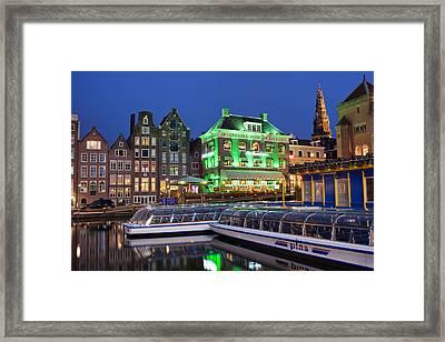 Amsterdam By Night Framed Print