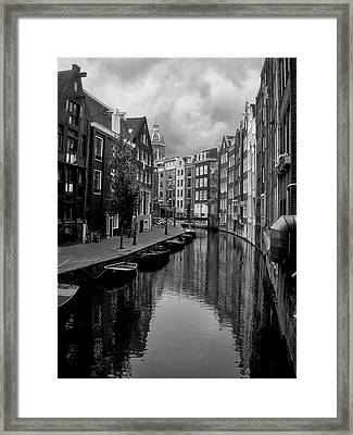Amsterdam Canal Framed Print by Heather Applegate