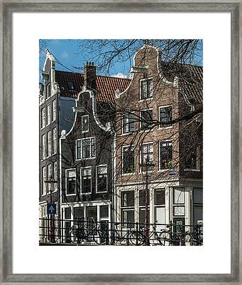 Amsterdam Canal Houses #1 Framed Print