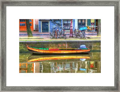 Amsterdam Canal Framed Print