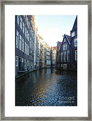 Amsterdam Canal View - 01 Framed Print by Gregory Dyer