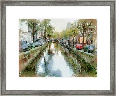 Amsterdam Canals View Framed Print by Yury Malkov