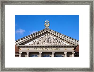 Amsterdam Concertgebouw Architectural Details Framed Print by Artur Bogacki