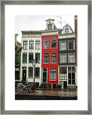 Amsterdam  Crooked Houses Framed Print by Gregory Dyer