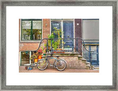 Amsterdam Facade Framed Print