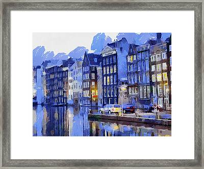 Amsterdam With Blue Colors Framed Print by Georgi Dimitrov