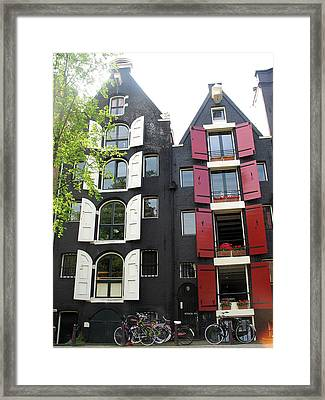 Amsterdam Homes Framed Print
