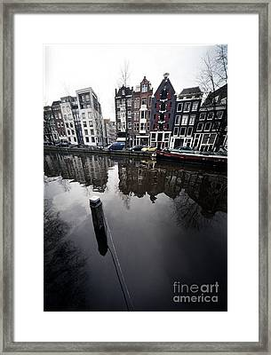 Amsterdam Houses Framed Print by Michael Edwards
