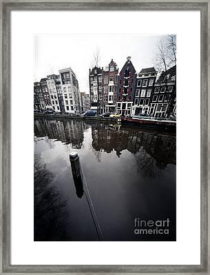 Amsterdam Houses Framed Print