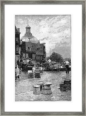 Amsterdam Milk Market Framed Print by Science Photo Library